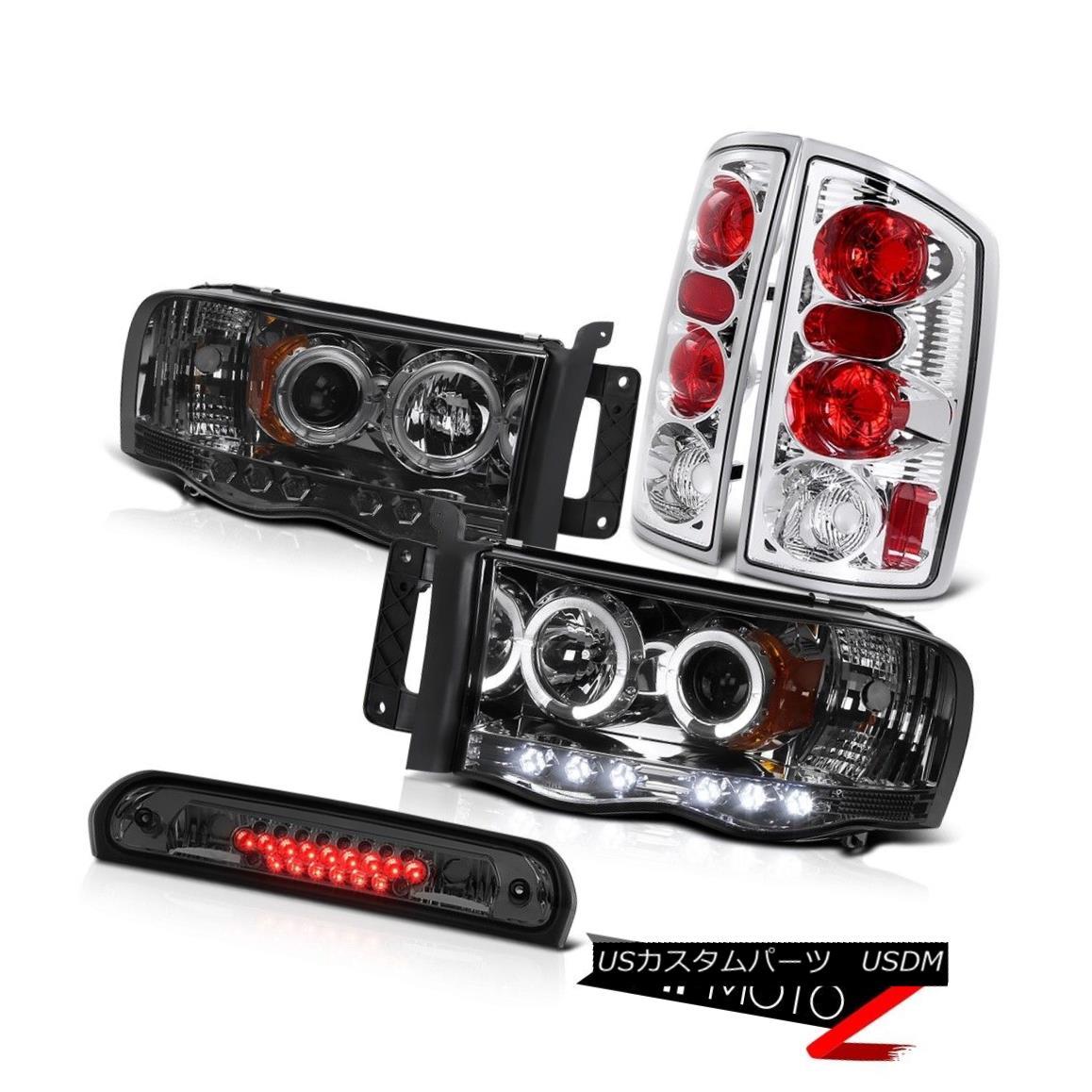 テールライト Smoke Halo Projector Headlights Rear Tail Lights Roof Brake LED 2002-2005 Ram V6 スモークハロープロジェクターヘッドライトリアテールライトルーフブレーキLED 2002-2005 Ram V6