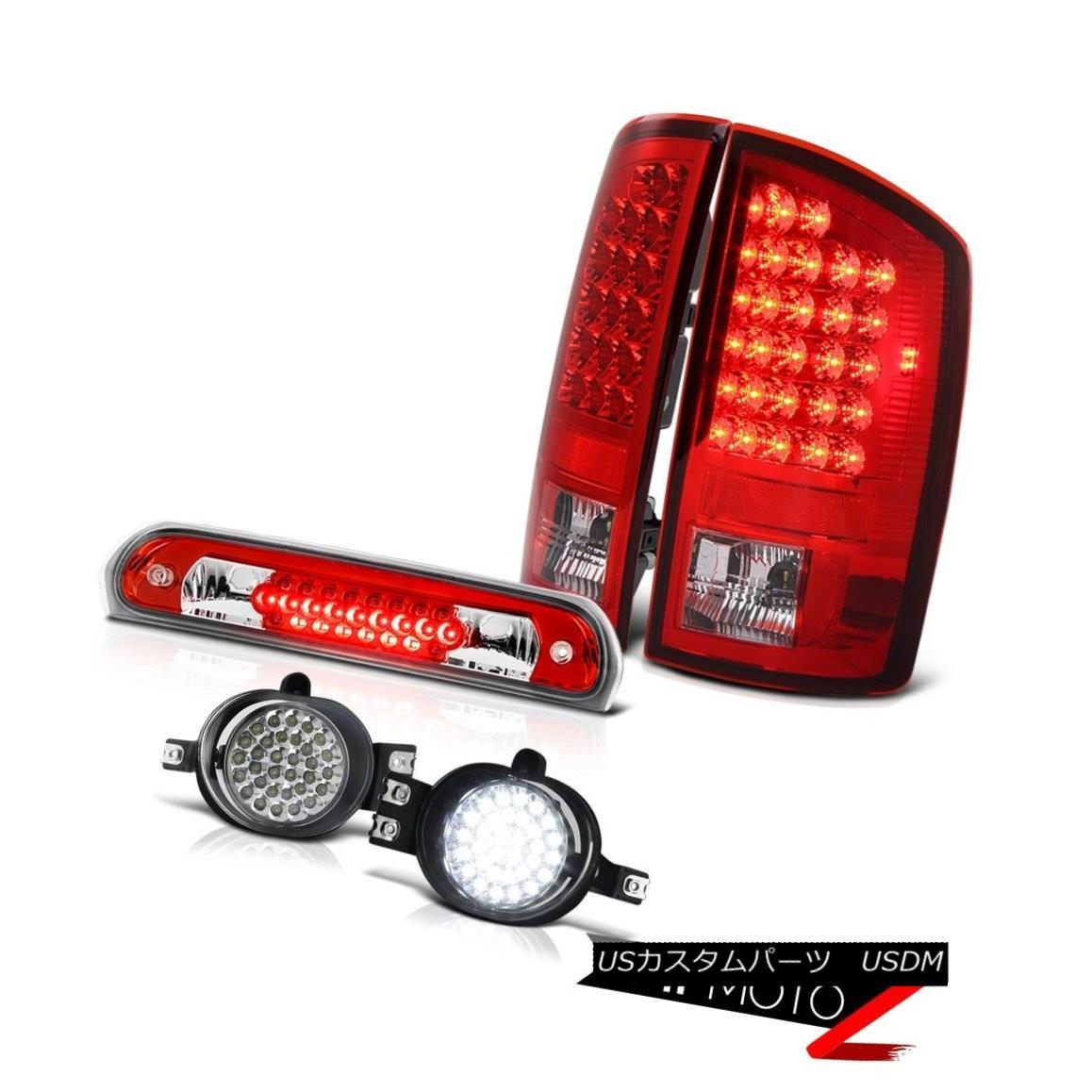 テールライト 2006 Dodge Ram Hemi Rosso Red LED Tail Lights Wiring+LED Foglights Wine Third 2006ダッジラムヘミロッソレッドLEDテールライト配線+ LEDフォグライトワイン第3