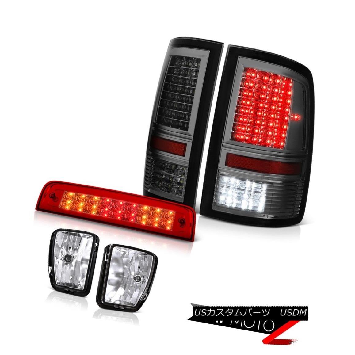 テールライト 2013-2018 Ram 1500 RT Bloody Red Third Brake Light Smoked Tail Lights Foglamps 2013-2018 Ram 1500 RT Bloody Red Thirdブレーキライトスモークテールライトフォグランプ