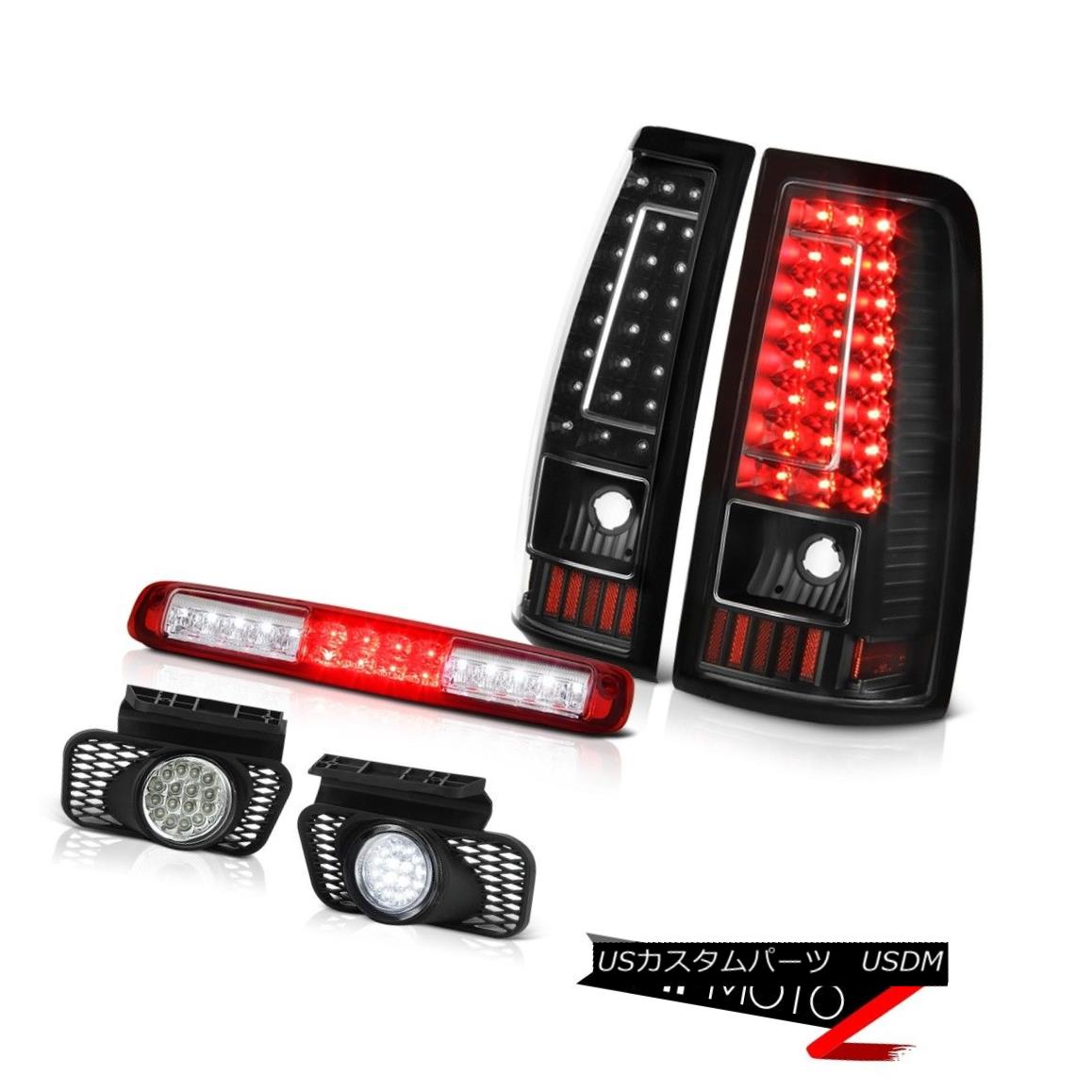 テールライト 2003-2006 Silverado Red High Stop Lamp Crystal Clear Fog Lamps Matte Black Tail 2003-2006シルヴァードレッドハイストップランプクリスタルクリアフォグランプマットブラックテール