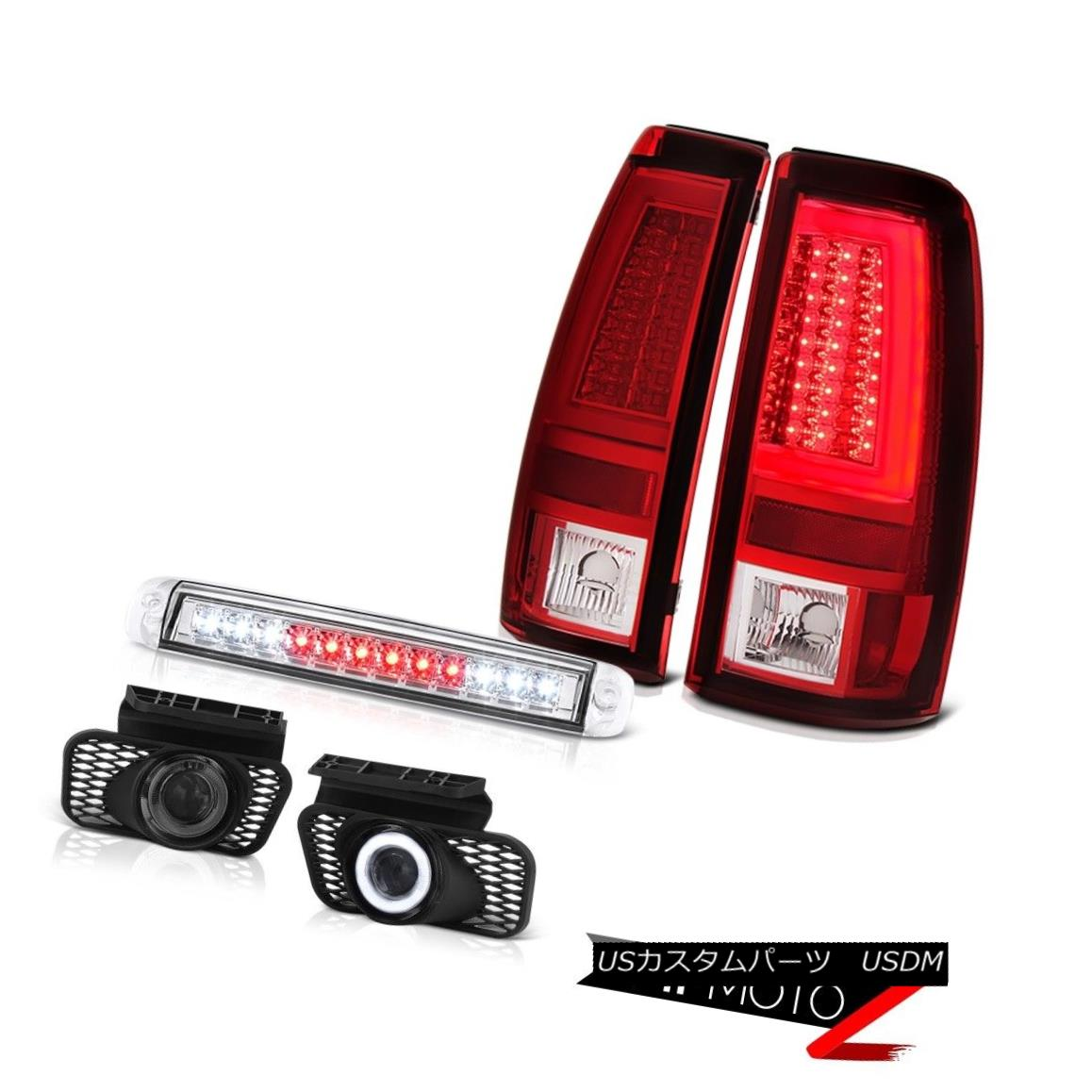 テールライト 03-06 Silverado Red Tail Lights Chrome Roof Cab Light Foglamps