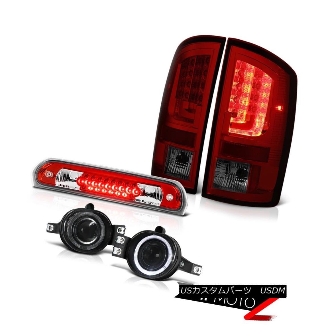 テールライト 02-06 Dodge Ram 1500 2500 WS Taillamps Smoked Fog Lights Roof Brake Light LED 02-06 Dodge Ram 1500 2500 WSタイルランプスモークフォグライトルーフブレーキライトLED