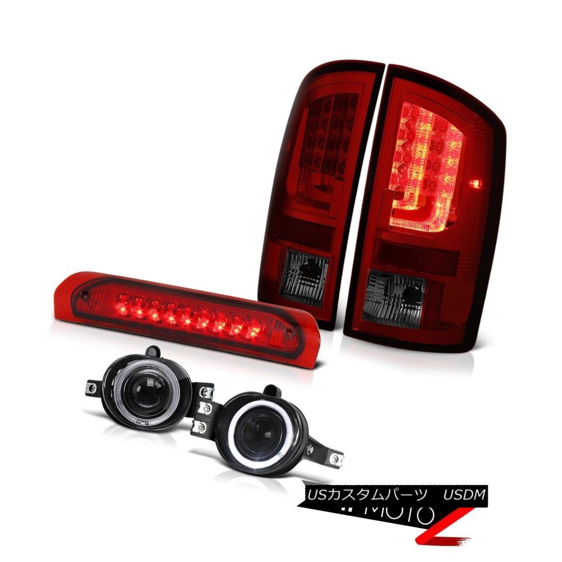 テールライト 2003-2006 Dodge Ram 3500 SLT Rear Brake Lights Fog Red 3RD Light OLED Prism LED 2003-2006 Dodge Ram 3500 SLTリアブレーキライトフォグレッド3RDライトOLEDプリズムLED