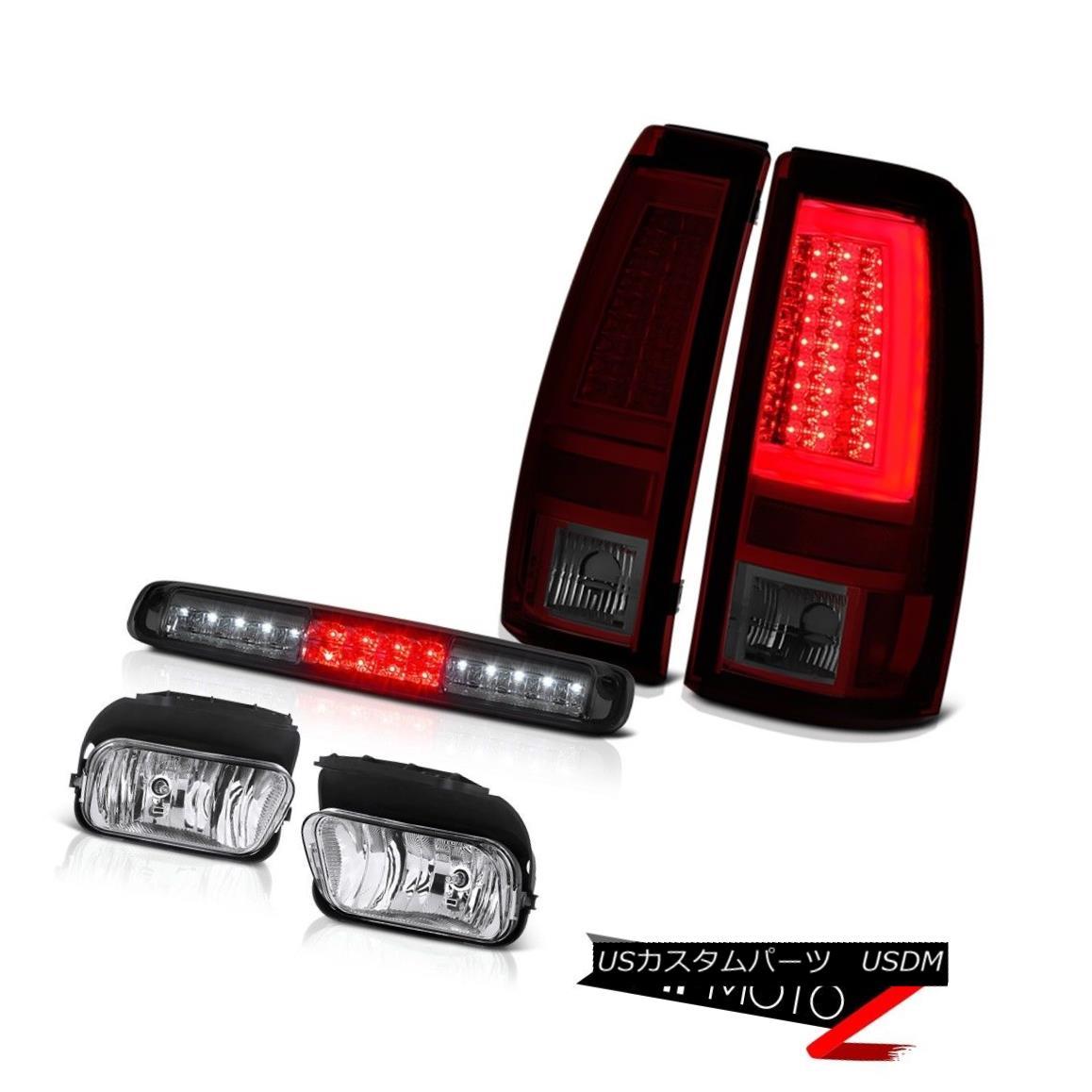 テールライト 2003-2006 Silverado Red Smoke Tail Lights Foglights Roof Cargo Light Tron Style 2003年?2006年シルヴェラドレッド煙テールライトフォグライト屋根カーゴライトトロンスタイル