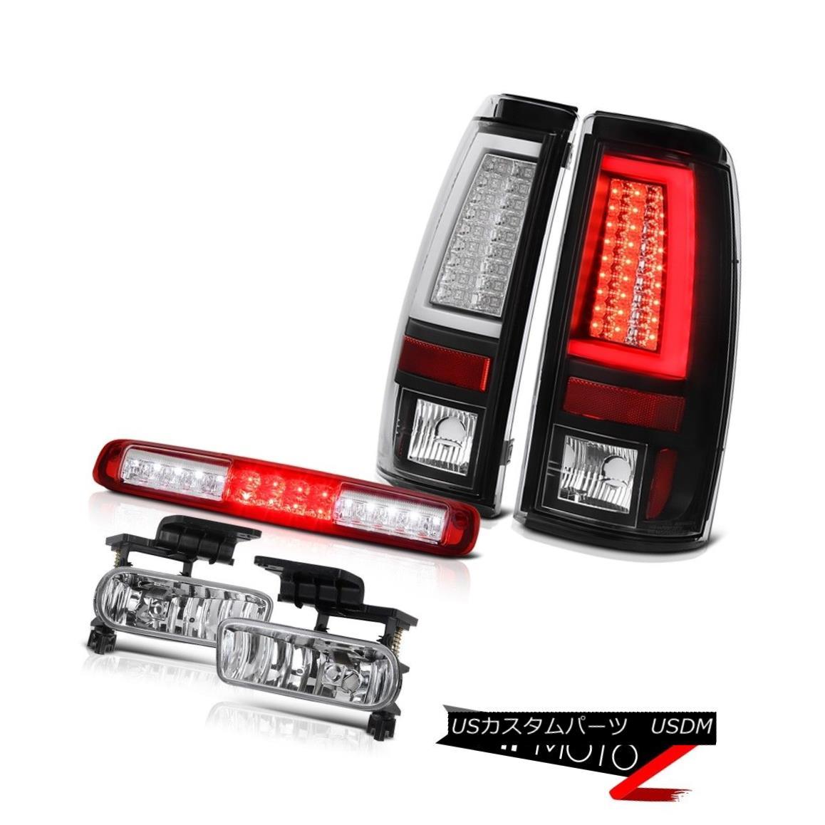 テールライト 1999-2002 Silverado 2500HD Inky Black Tail Lights High Stop Lamp Fog Tron Tube 1999-2002 Silverado 2500HD Inky BlackテールライトHigh Stop Lamp Fog Tron Tube