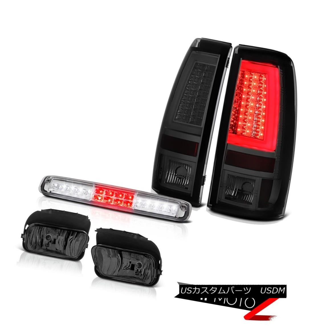 テールライト 03-06 Silverado Tail Brake Lights Fog Lamps Crystal Clear 3RD Lamp