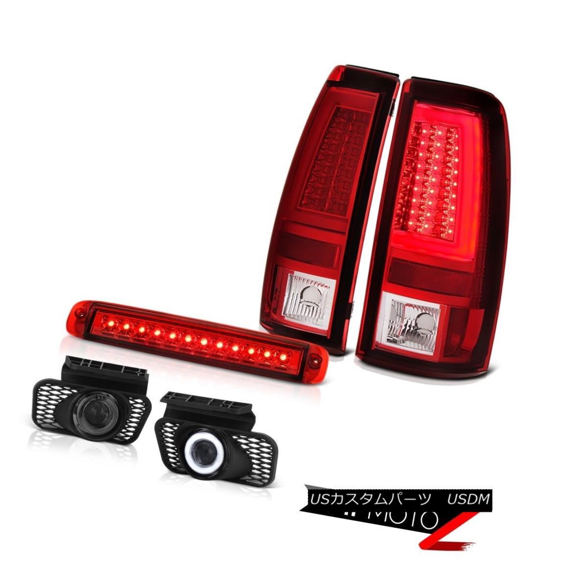 テールライト 03-06 Silverado 1500 Bloody Red Taillamps 3RD Brake Light Fog Lamps Tron Tube 03-06 Silverado 1500 Bloody Red Taillamps 3RDブレーキライトフォグランプTron Tube