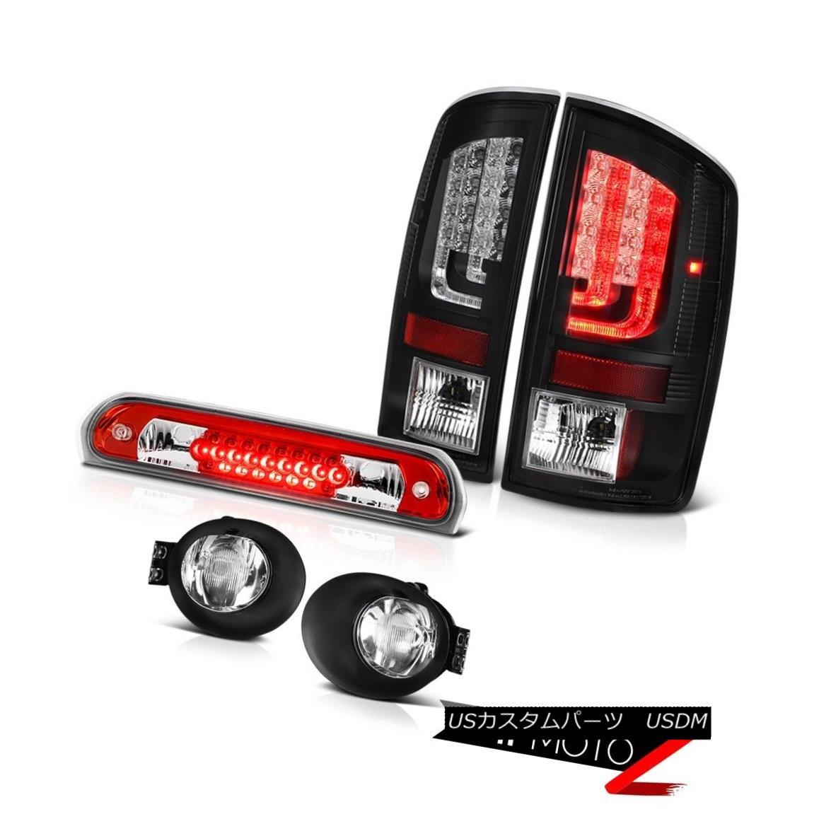 テールライト 02-06 Ram 1500 2500 3500 5.7L Rear Brake Lamps Fog Red High STop Lamp OLED Prism 02-06 Ram 1500 2500 3500 5.7LリアブレーキランプフォグレッドハイSTopランプOLEDプリズム