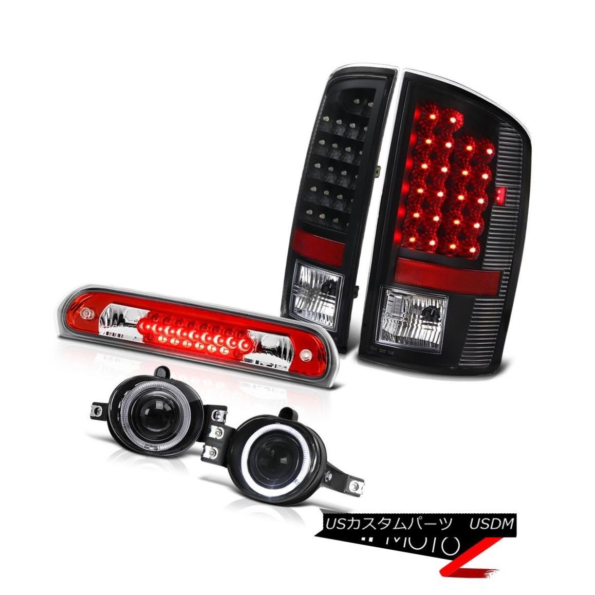 テールライト 2006 Dodge Ram TurboDiesel SMD Brake Tail Lights Projector Euro Fog Roof LED Red 2006ダッジラムターボディーゼルSMDブレーキテールライトプロジェクターユーロフォグルーフLED赤