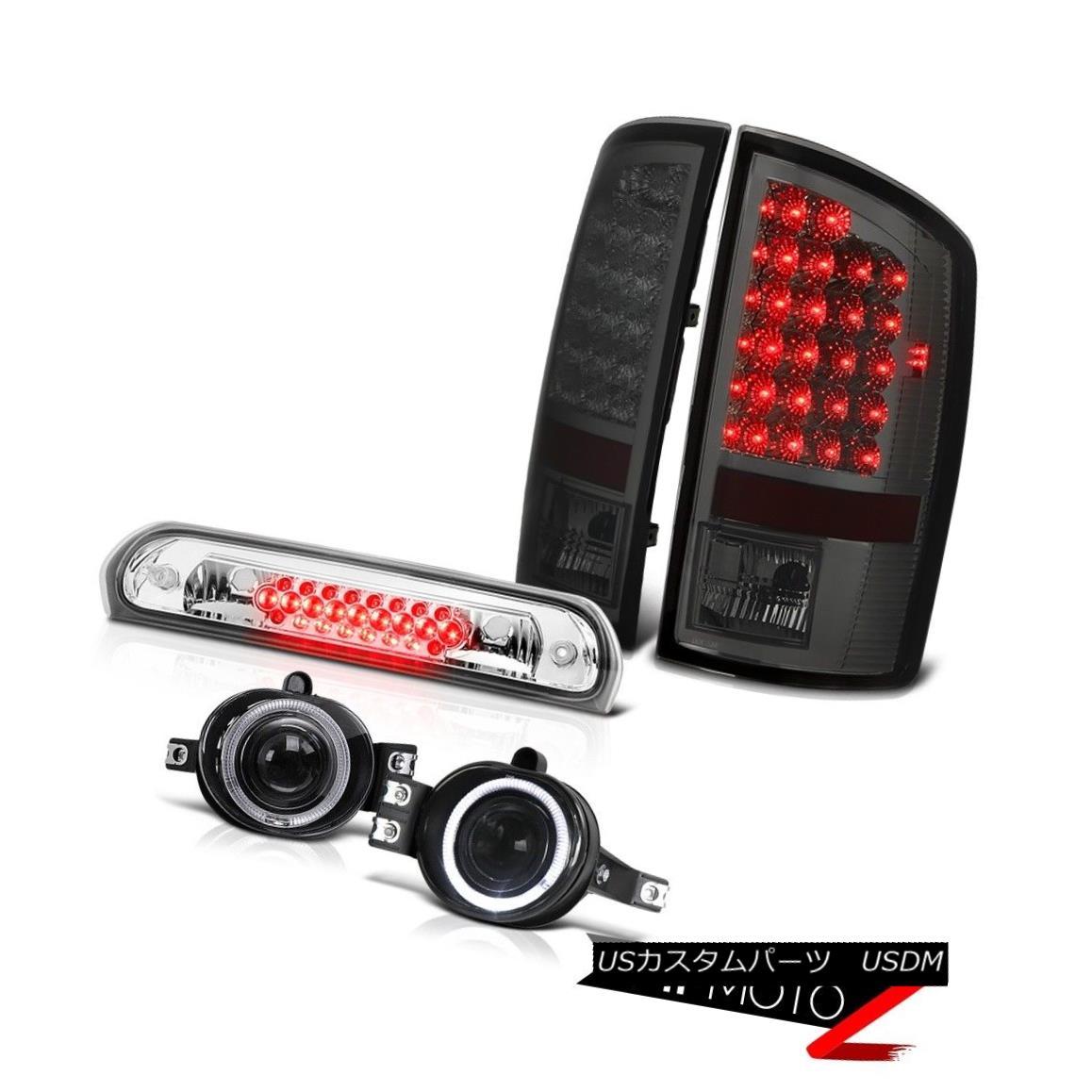 テールライト Smoked LED Tail Lights Projector Halo Foglamps Chrome 3rd Brake 2007-2008 Ram WS スモークLEDテールライトプロジェクターHalo Foglamps Chrome 3rd Brake 2007-2008 Ram WS