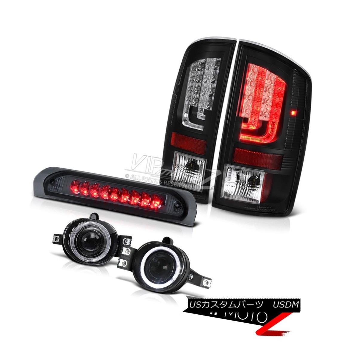 テールライト 2002-2006 Dodge Ram 1500 SLT Black Tail Brake Lights Fog Roof Lamp OLED Prism 2002-2006ダッジラム1500 SLTブラックテールブレーキライトフォグ屋根ランプOLEDプリズム