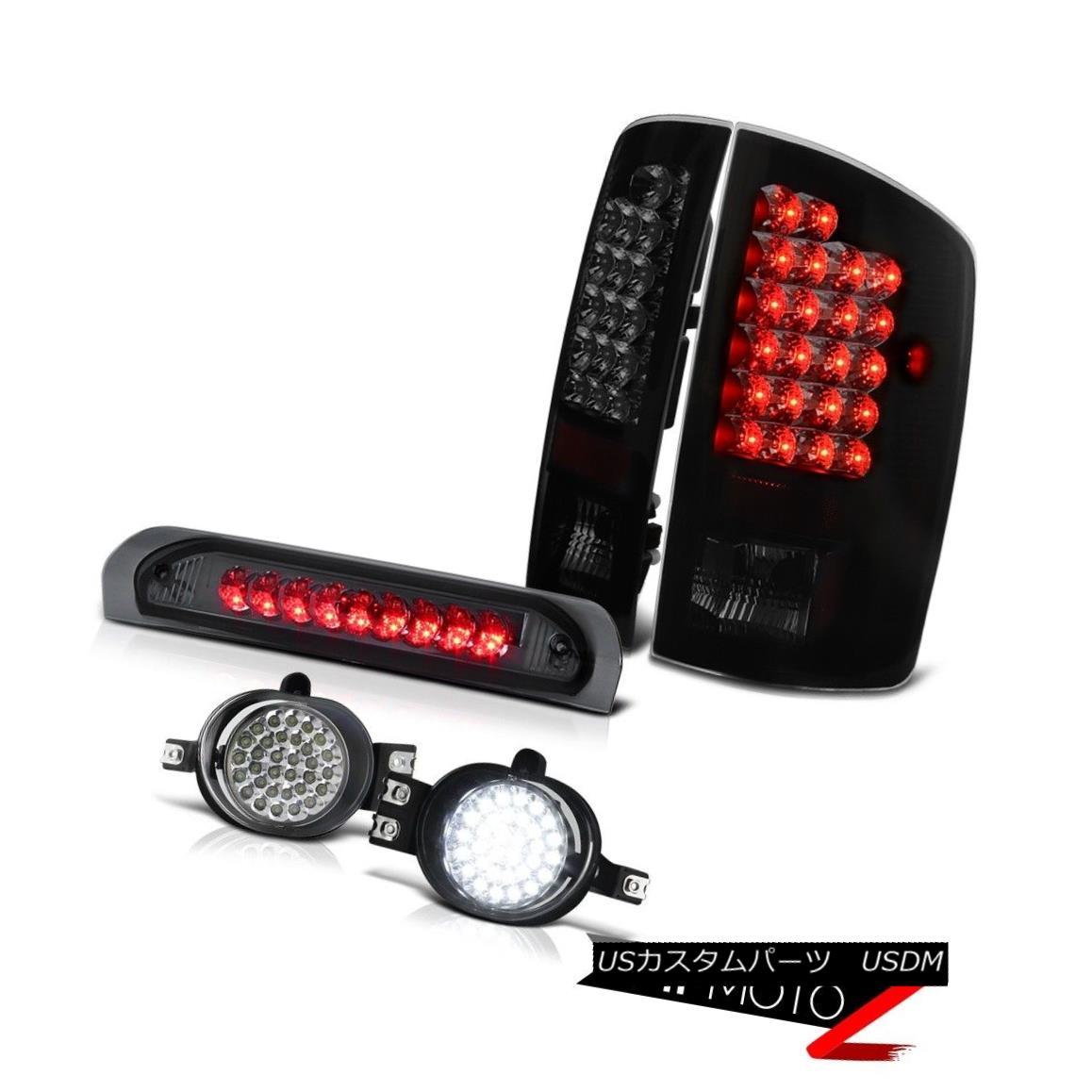 テールライト MOST POPULAR 02-06 Dodge Ram SMOKED LED Tail Light+3rd Brake+Projector Fog Lamps 最も人気のあるもの02-06 Dodge Ram SMOKED LEDテールライト+ 3rdブレーキ+プロジェクター rフォグランプ