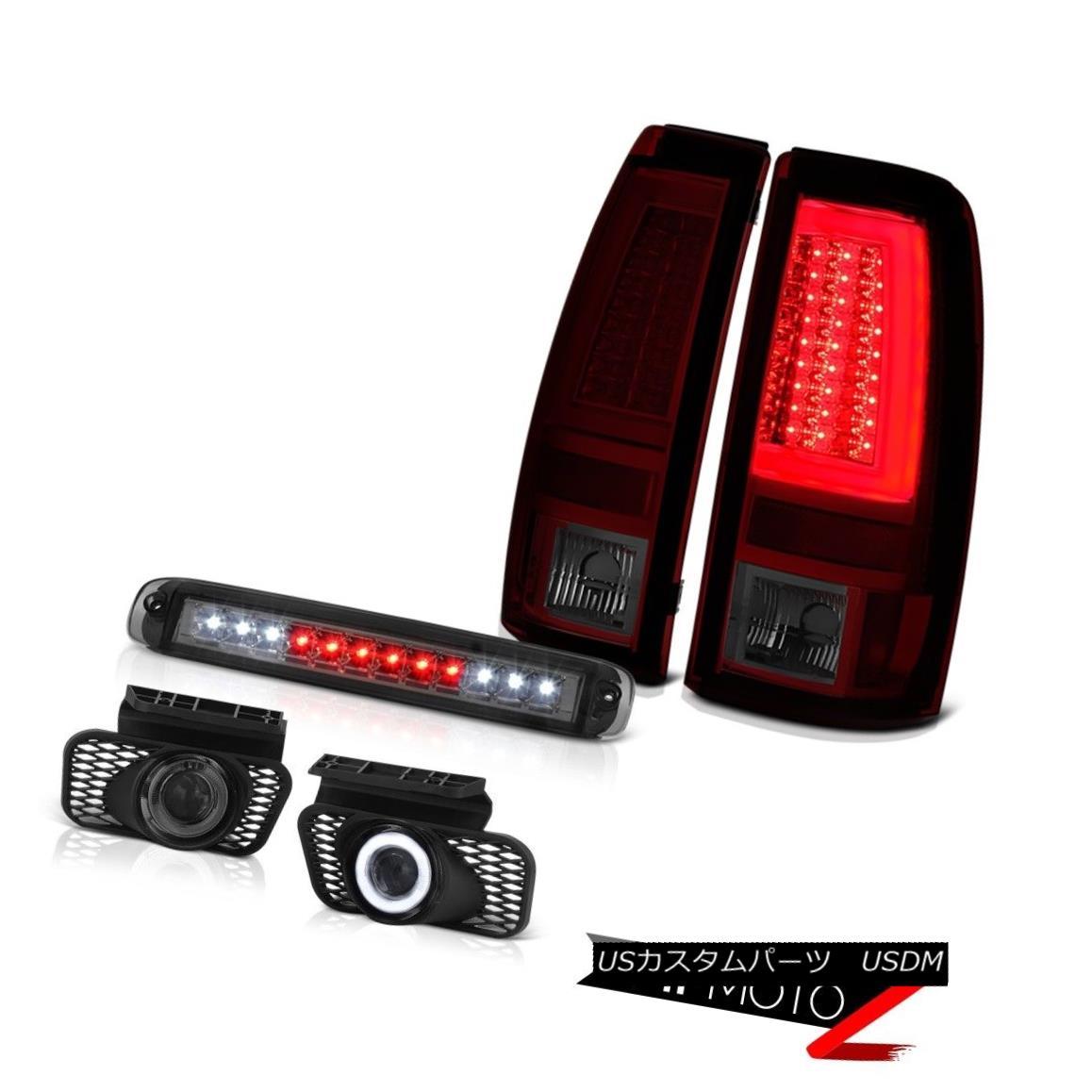 テールライト 03-06 Silverado 3500Hd Tail Brake Lights Smokey 3RD Light Foglamps Tron Style 03-06 Silverado 3500Hdテール・ブレーキ・ライトSmoke 3RDライト・フォグ・ランプトロン・スタイル