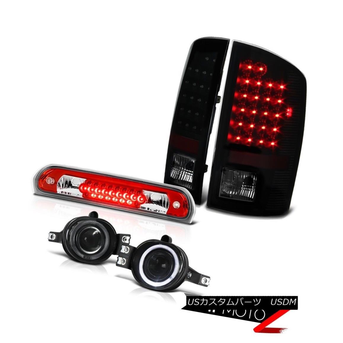 テールライト 2006 Dodge Ram Hemi LED Tail Lights Lamps Projector Foglamps Roof 3rd Brake Red 2006 Dodge Ram Hemi LEDテールライトランププロジェクターフォグランプ屋根第3ブレーキ赤