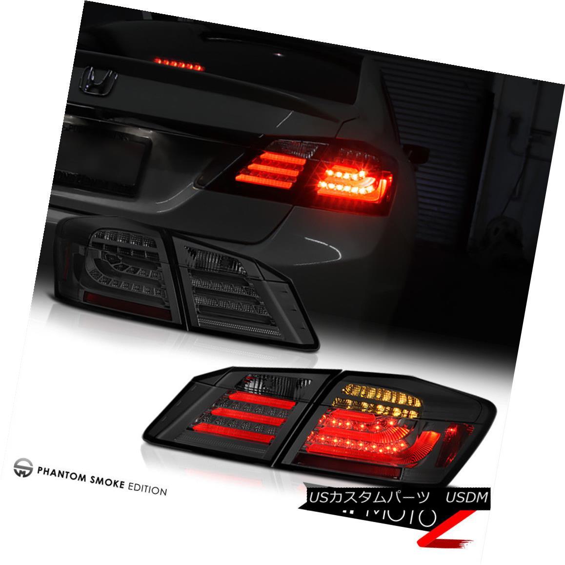 テールライト [4PC] 2013-2015 Honda Accord Sedan CR2 Smoke Tint LED Brake Signal Tail Light [4PC] 2013-2015ホンダアコードセダンCR2スモークティントLEDブレーキ信号テールライト
