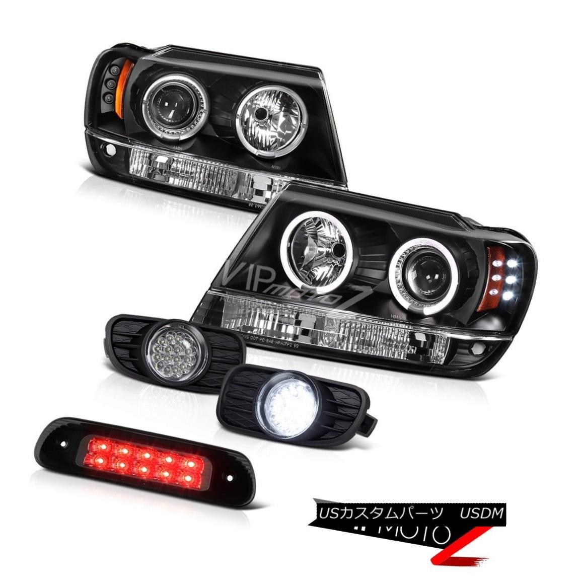 テールライト 99-03 Jeep Grand Cherokee 4WD Smoked 3RD Brake Light Fog Lights Headlights Smd 99-03ジープグランドチェロキー4WDスモーク3RDブレーキライトフォグライティングヘッドライトSmd