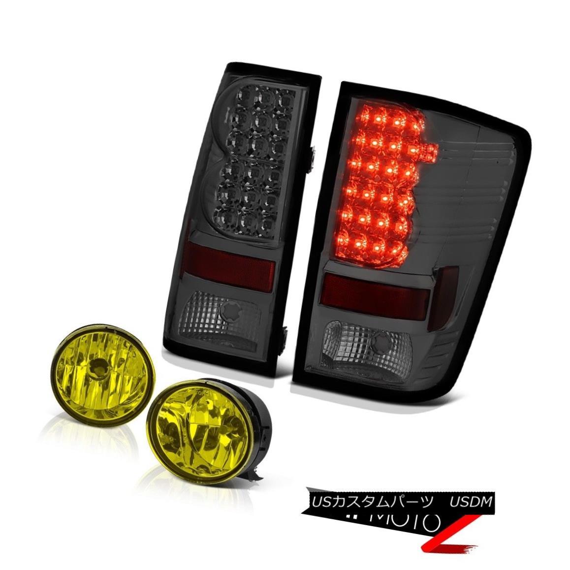 テールライト For 2004-2015 Titan Pro-4X Smoke Tail Lights Golden Yellow Bumper Foglamps 2004年?2015年Titan Pro-4Xスモークテールライトゴールデンイエローバンパーフォグランプ