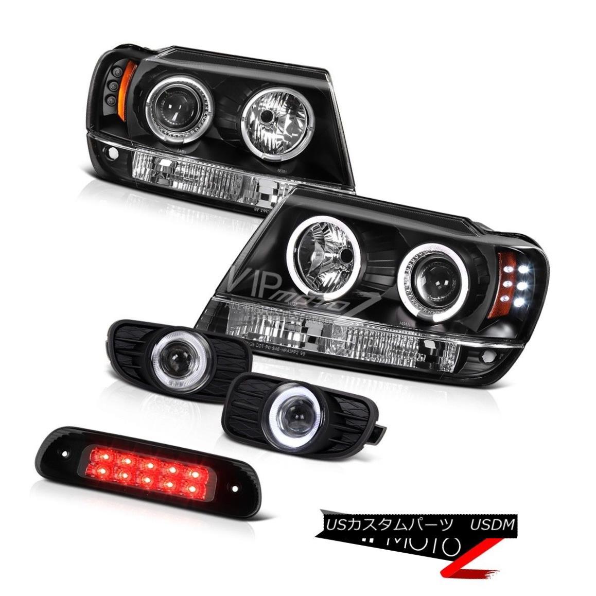 テールライト 99-03 Jeep Grand Cherokee 4X4 Smokey Roof Cab Light Chrome Fog Lights Headlamps 99-03ジープグランドチェロキー4X4スモーキールーフキャブライトクロームフォグライトヘッドランプ