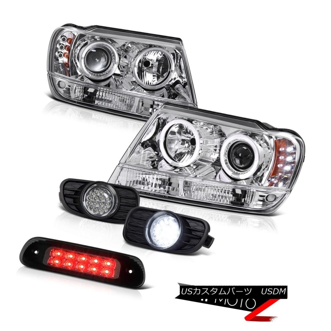 テールライト 1999-2003 Jeep Grand Cherokee WG 4WD Roof Cab Lamp Foglights Headlamps LED Sm 1999-2003 Jeep Grand Cherokee WG 4WDルーフキャブ・ランプフォグライトヘッドランプLED Sm