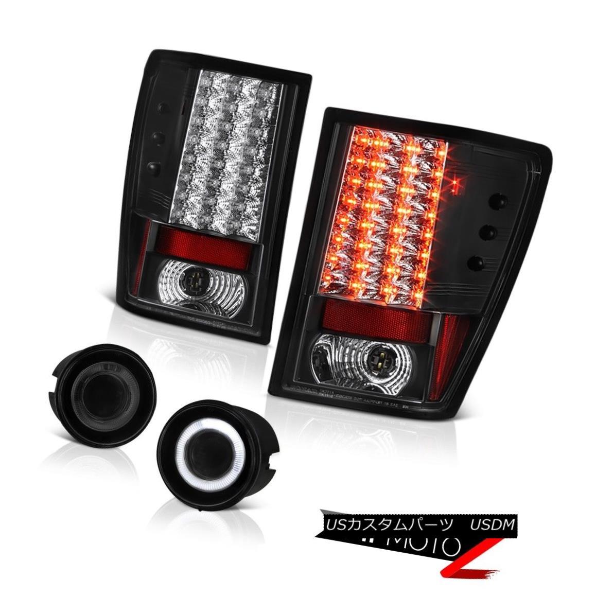 車用品 流行のアイテム バイク用品 >> パーツ 営業 ライト ランプ テールライト 2007-2010 Grand Cherokee Lights Smoke Dark 2007年?2010年グランドチェロキーWKダークスモークフォグライトインキーブラックタイラースSMD Black Inky Fog SMD Taillamps WK