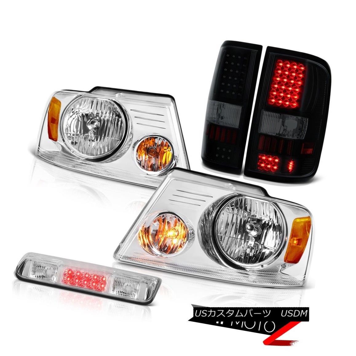 テールライト 04-08 Ford F150 XL High Stop Lamp Headlights Smoke Tinted Taillamps OE Style SMD 04-08 Ford F150 XLハイストップランプヘッドライトスモークティンテッドタイランプOEスタイルSMD