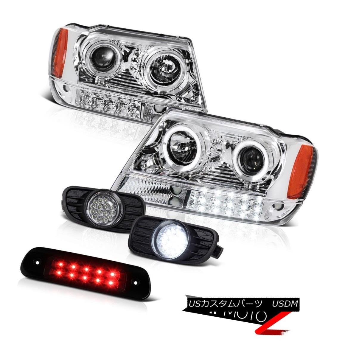 テールライト 99-03 Jeep Grand Cherokee WG 4WD Third Brake Light Fog Lamps Headlamps LED Bk 99-03ジープグランドチェロキーWG 4WD第3ブレーキライトフォグランプヘッドランプLED Bk