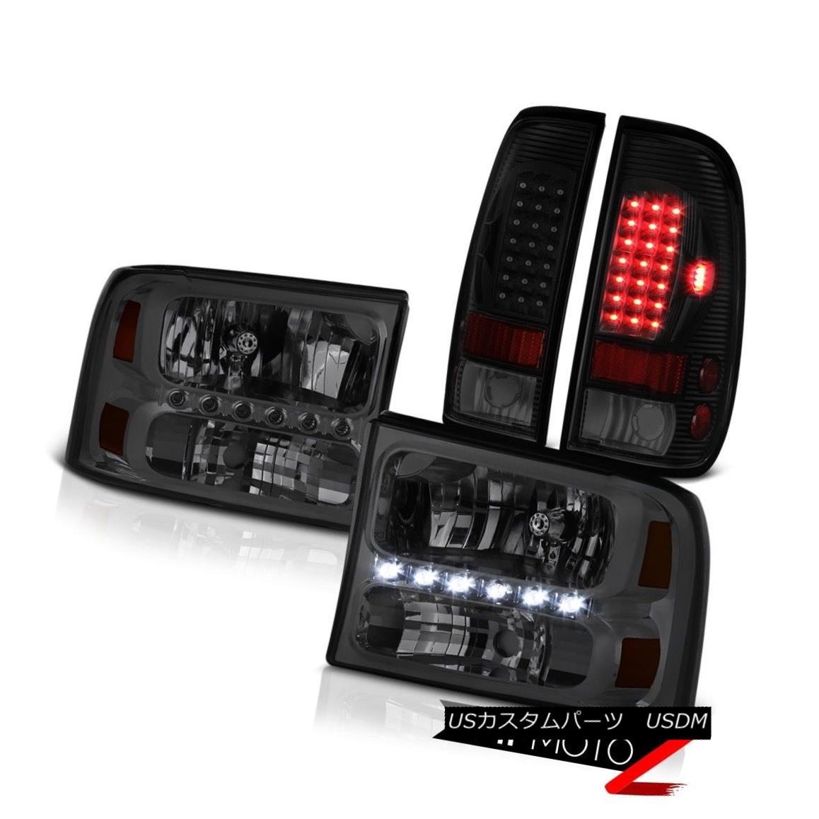 テールライト 99 00 01 02 03 04 F250 Xl Sinister Black Parking Brake Lights Smokey Headlights 99 00 01 02 03 04 F250 X1シニスターブラックパーキングブレーキライトスモーキーヘッドライト