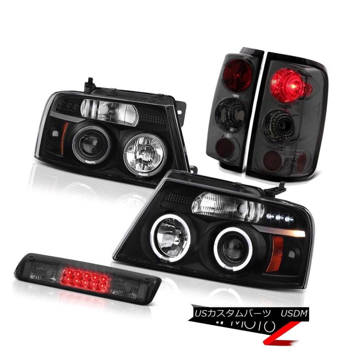 テールライト 2004-2008 Ford F150 Lariat Smoked Roof Cab Lamp Headlights Tail Brake Lights LED 2004-2008 Ford F150 Lariatスモークルーフキャブ・ランプヘッドライトテール・ブレーキライトLED
