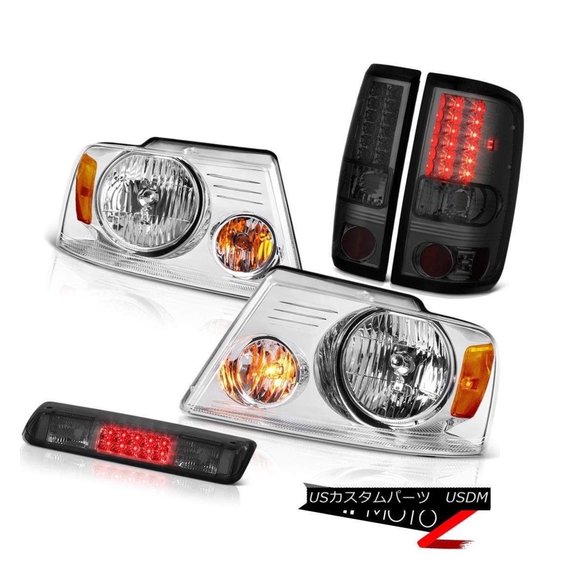 テールライト 2004-2008 Ford F150 XL Roof Cab Light Chrome Headlights Rear Brake Lights LED 2004-2008フォードF150 XLルーフキャブライトクロームヘッドライトリアブレーキライトLED