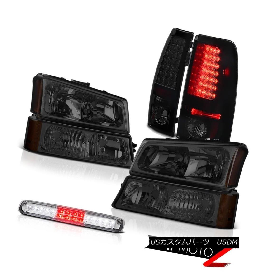 テールライト 2003-2006 Silverado 3500Hd Headlamps High Stop Light Dark Tinted Taillights SMD 2003-2006シルバラード3500HdヘッドライトハイストップライトダークティンテッドティアライトSMD