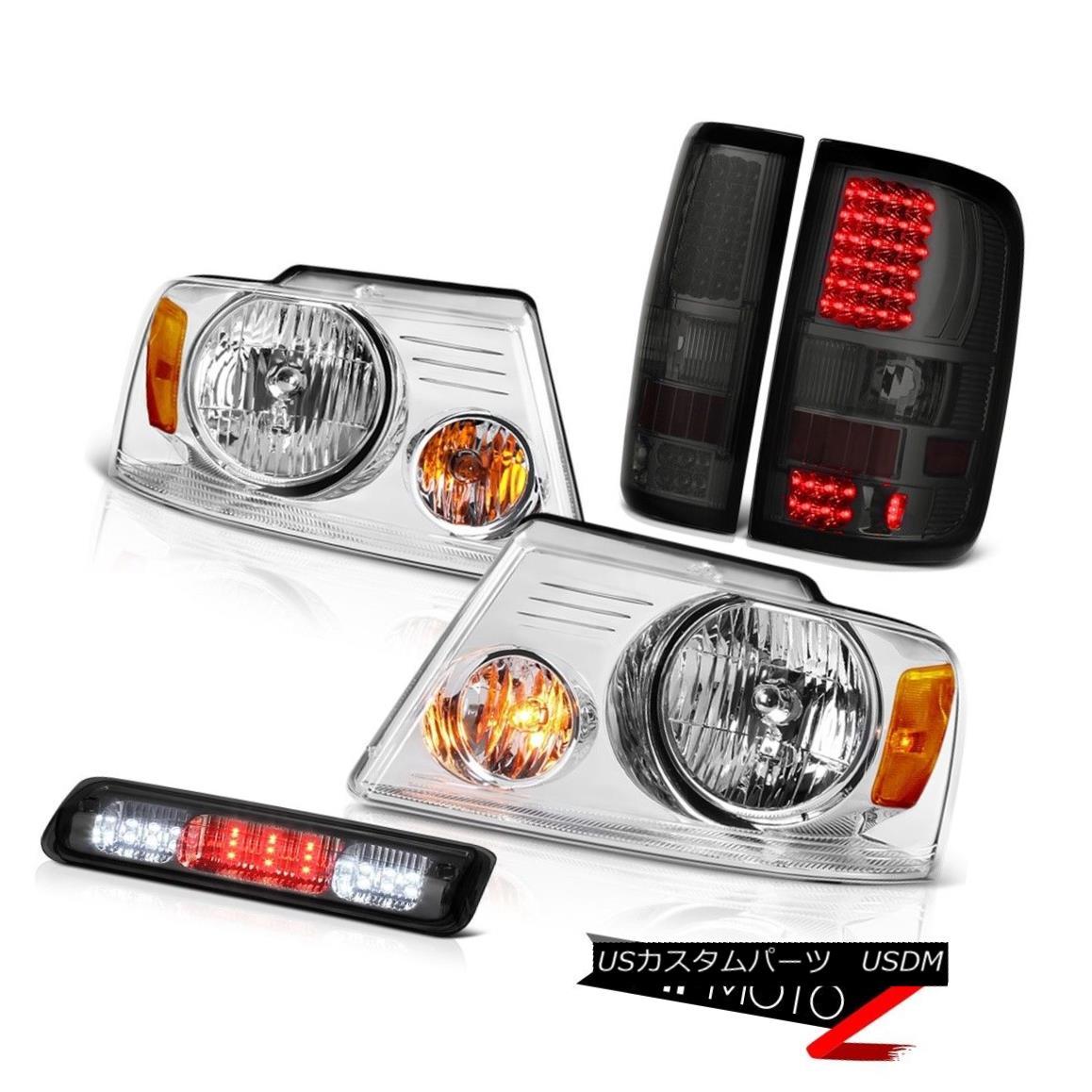 テールライト 04-08 Ford F150 XL Roof Cab Lamp Crystal Clear Headlamps Tail Lamps