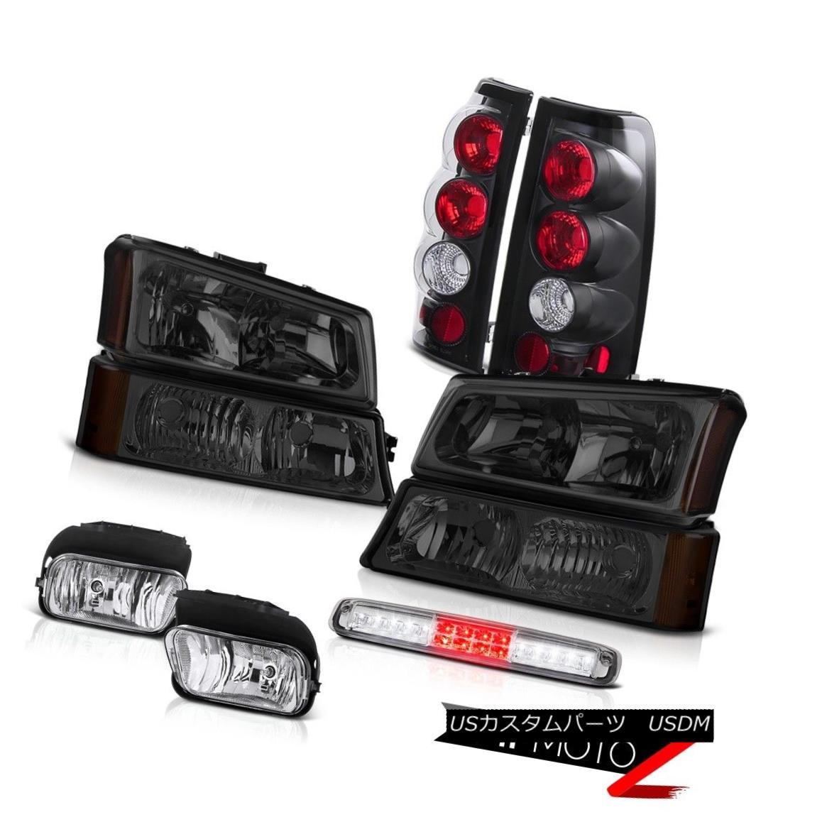 テールライト 03-06 Silverado Foglights Parking Lamp 3RD Brake Headlights Taillamps LED Euro 03-06 Silveradoフォグライトパーキングランプ3RDブレーキヘッドライトテールランプLED