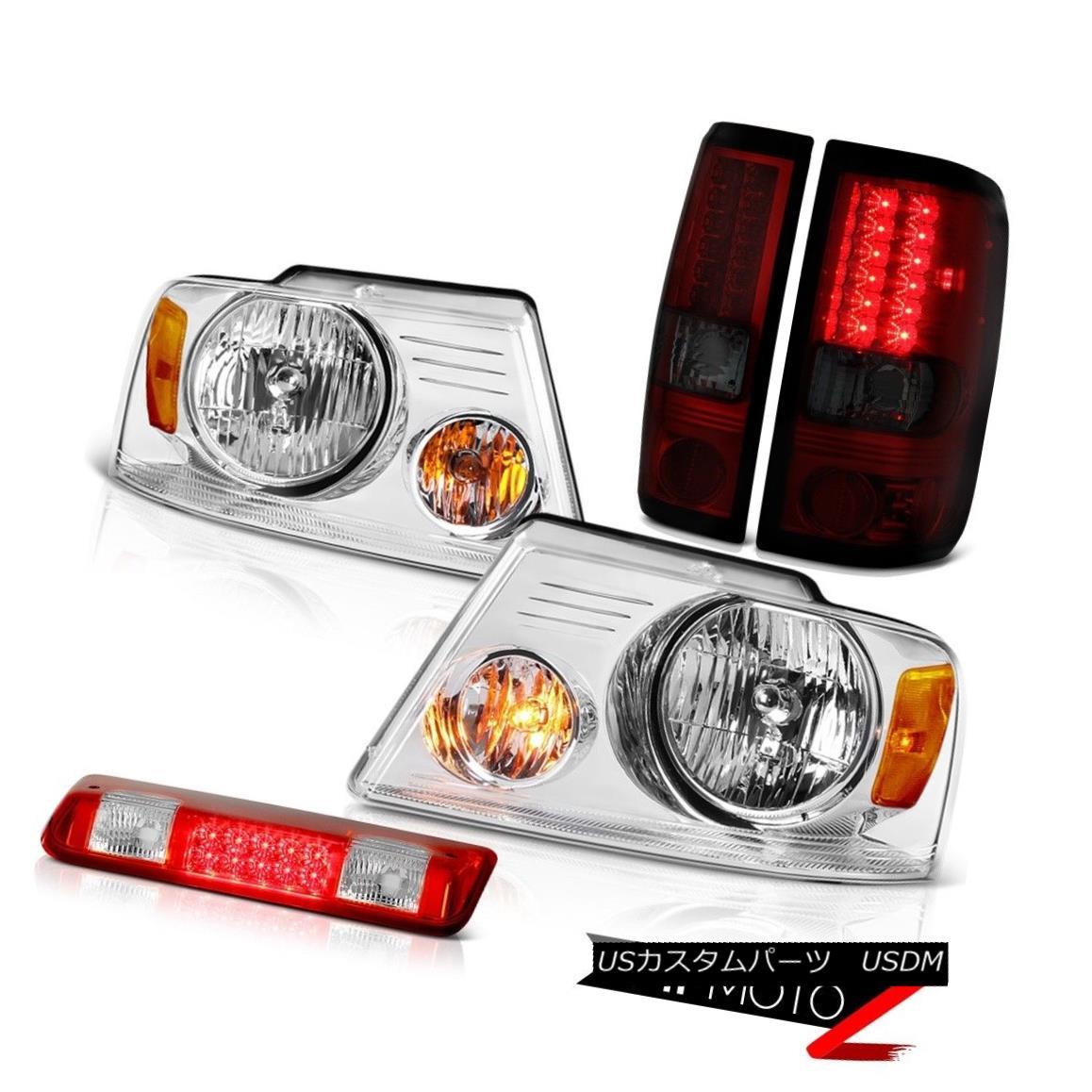 テールライト 2004-2008 Ford F150 FX4 Third Brake Light Headlamps Smokey Red Tail Lamps SMD 2004-2008フォードF150 FX4サードブレーキライトヘッドライトスモーキーレッドテールランプSMD