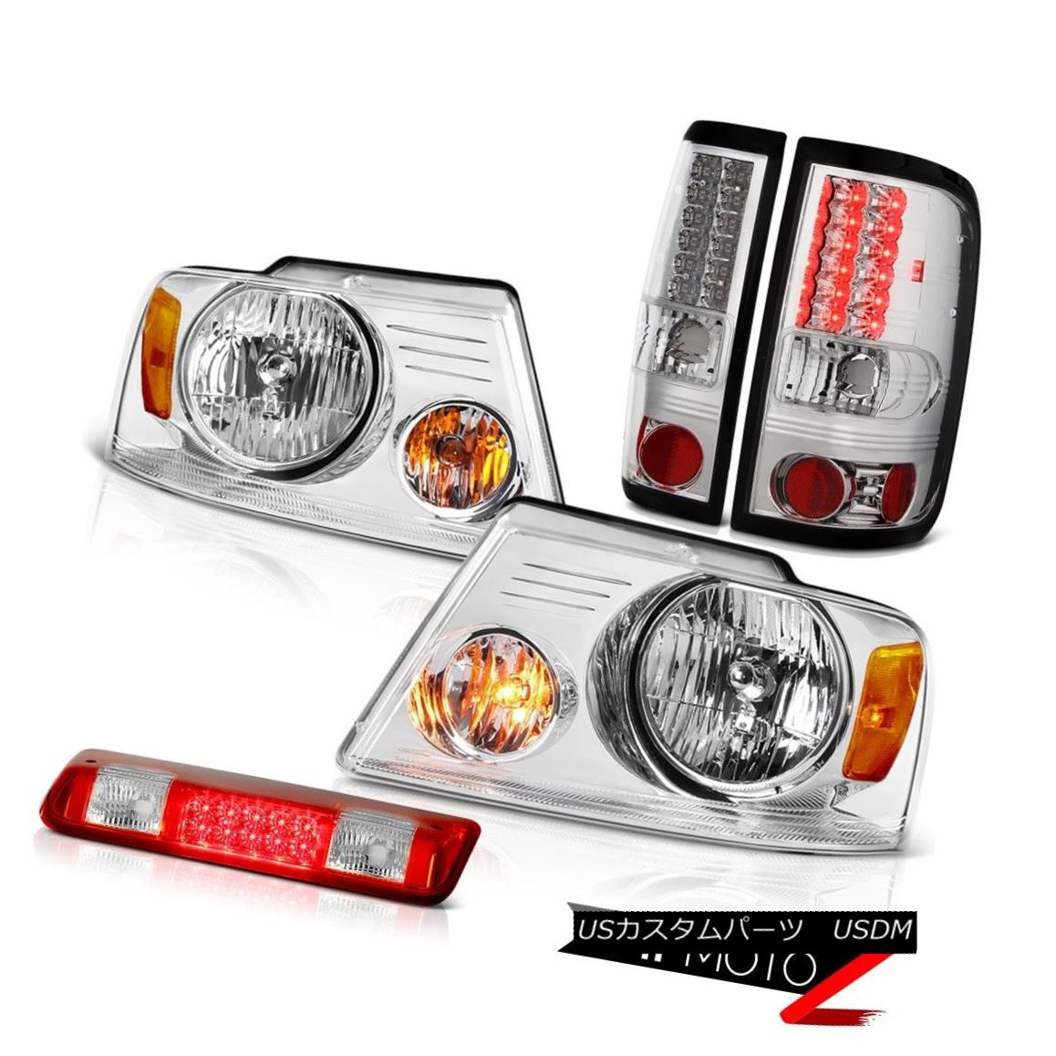 テールライト 2004-2008 Ford F150 FX4 Red Clear 3rd Brake Lamp Headlamps Tail Lights OE Style 2004-2008フォードF150 FX4レッドクリア第3ブレーキランプヘッドライトテールライトOEスタイル