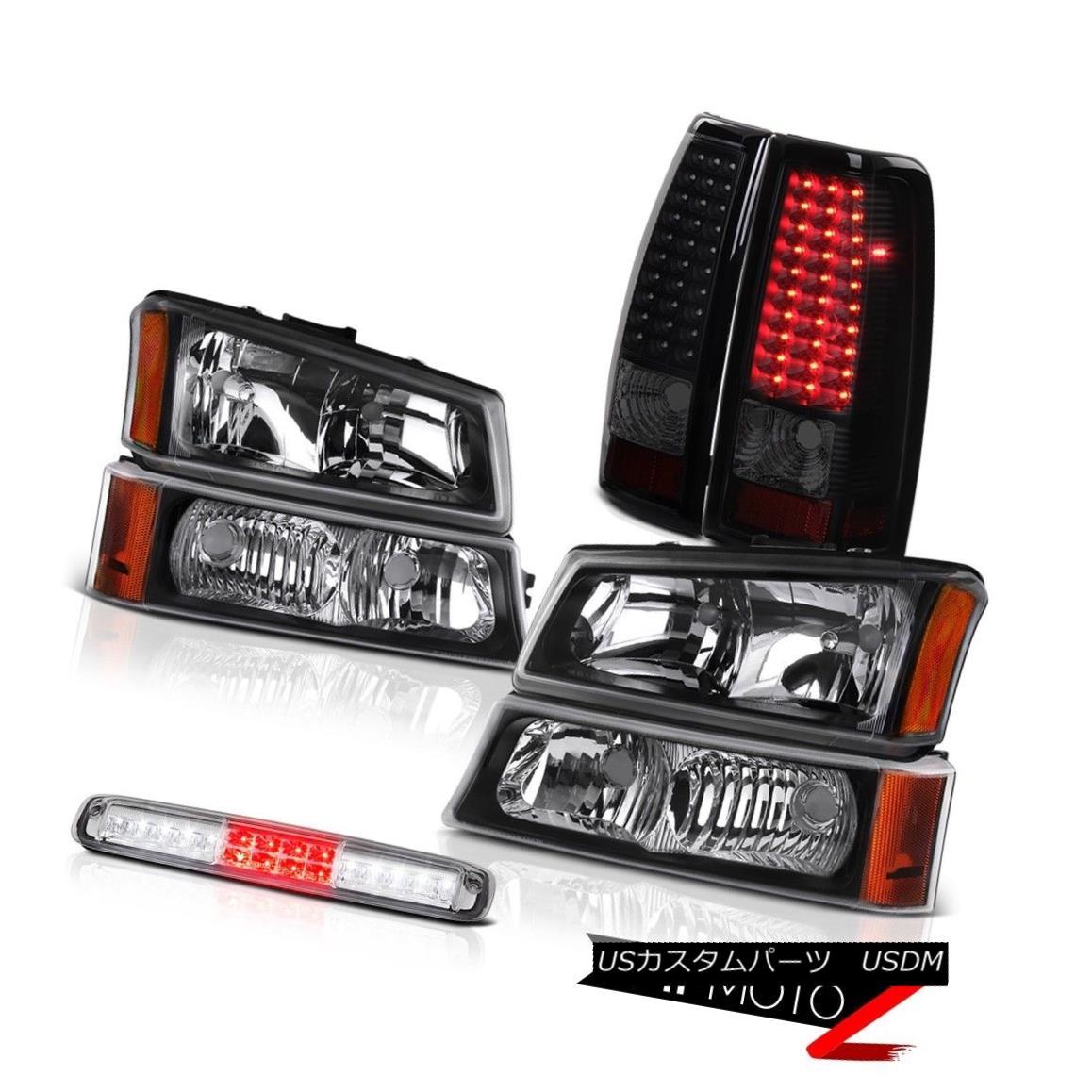 テールライト 03-06 Chevy Silverado 1500 Headlamps Clear Chrome 3RD Brake Lamp Rear Lamps SMD 03-06 Chevy Silverado 1500ヘッドランプクリアクローム3RDブレーキランプリアランプSMD