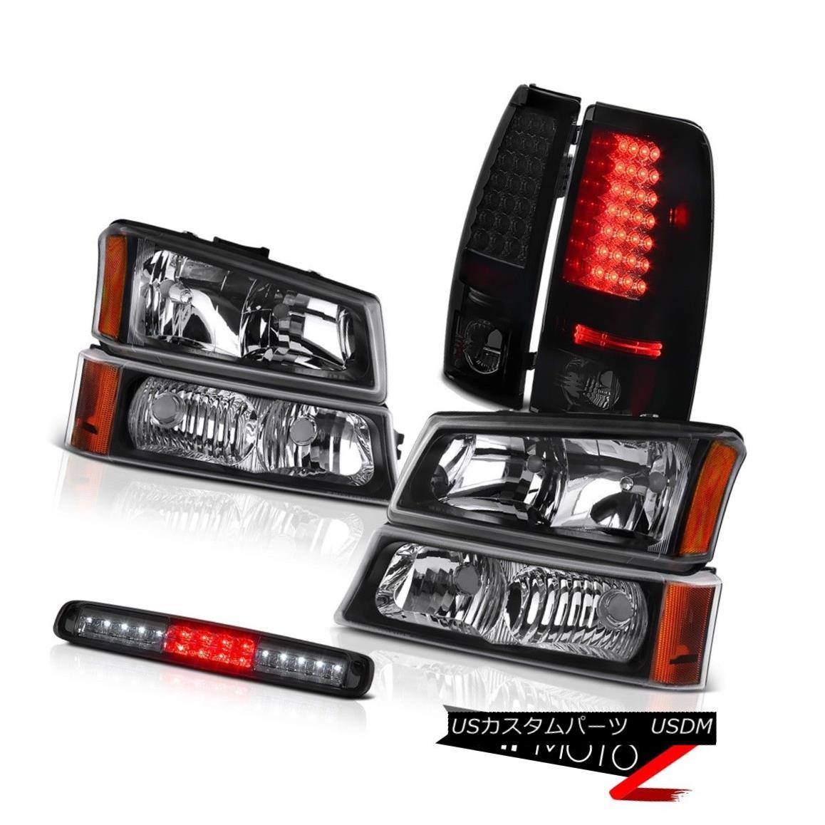 テールライト 03-06 Silverado Raven Black Headlamps Roof Cab Lamp Taillights SMD Replacement 03-06 Silverado Raven Blackヘッドランプ屋根キャブランプ灯台SMD交換