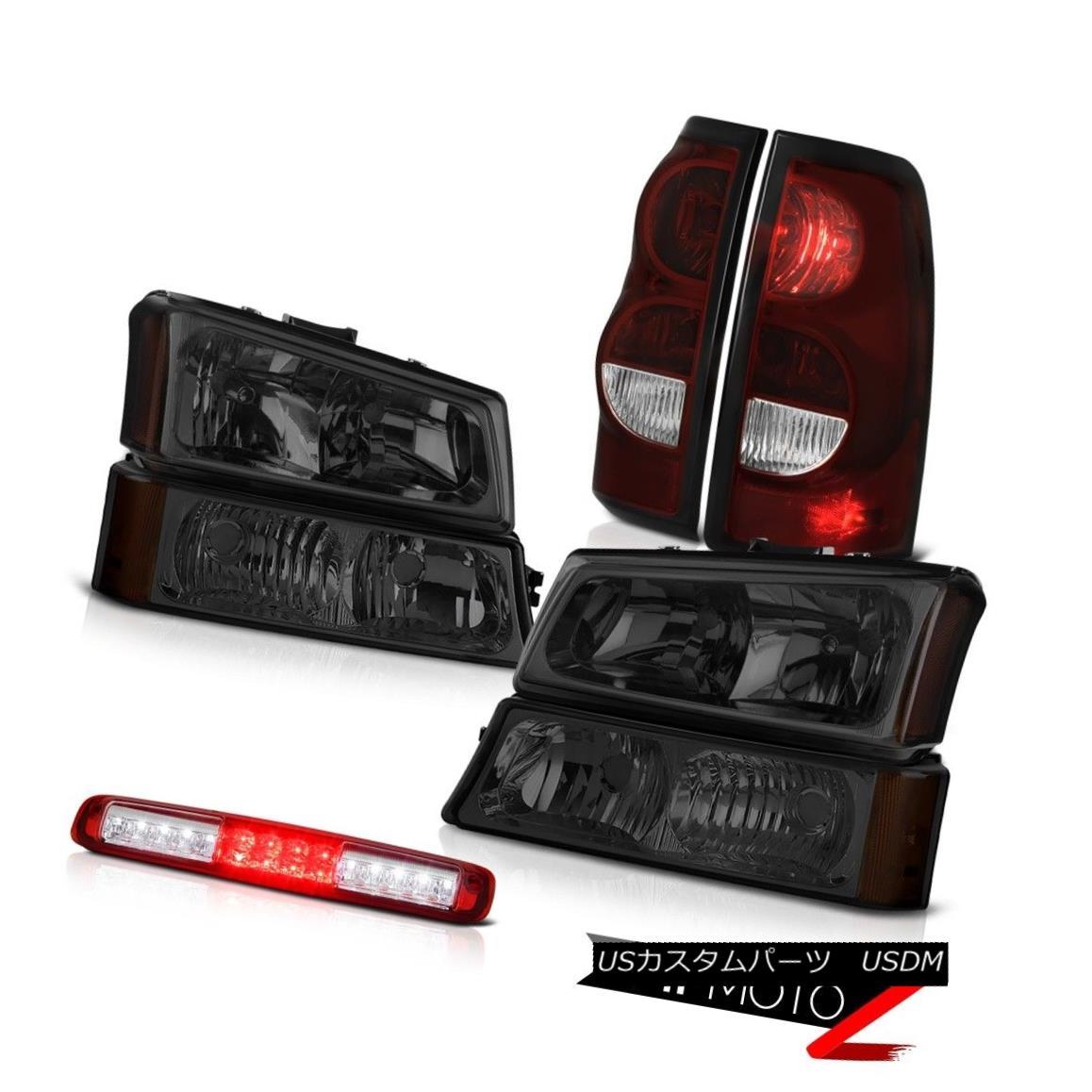 テールライト 03 04 05 06 Silverado Rosso Red 3RD Brake Lamp Rear Lights Parking Headlights 03 04 05 06シルバラードロッソレッド3RDブレーキランプリアライトパーキングヘッドライト
