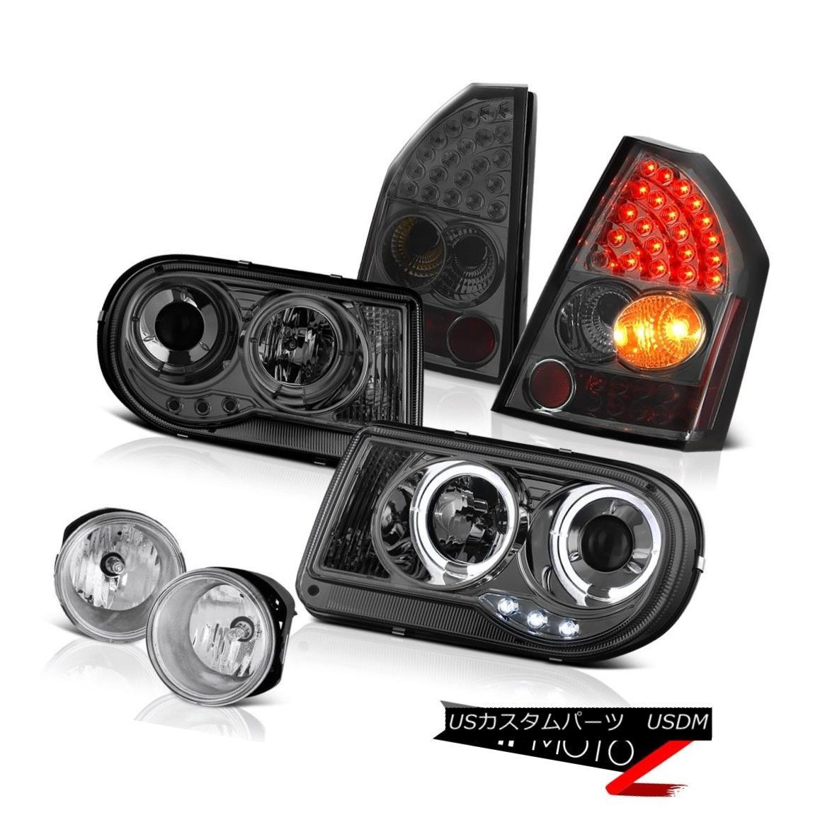 テールライト 08 09 10 Chrysler 300C 5.7L LED Halo Headlights Parking Tail Lights Euro Fog 08 09 10クライスラー300C 5.7L LEDハローヘッドライトパーキングテールライトユーロフォグ