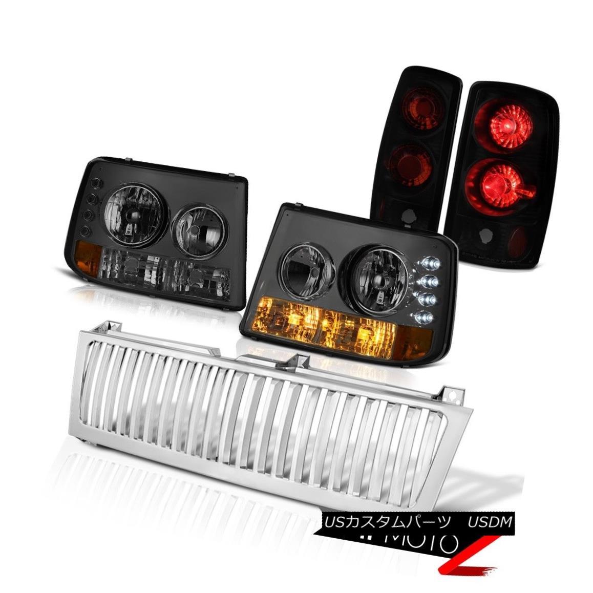 テールライト 00 01 02 03 05 06 Suburban 6.0L Bumper+Headlight Signal Tail Light Chrome Grille 00 01 02 03 05 06郊外の6.0Lバンパー+ヘッドリッグ htシグナルテールライトクロームグリル