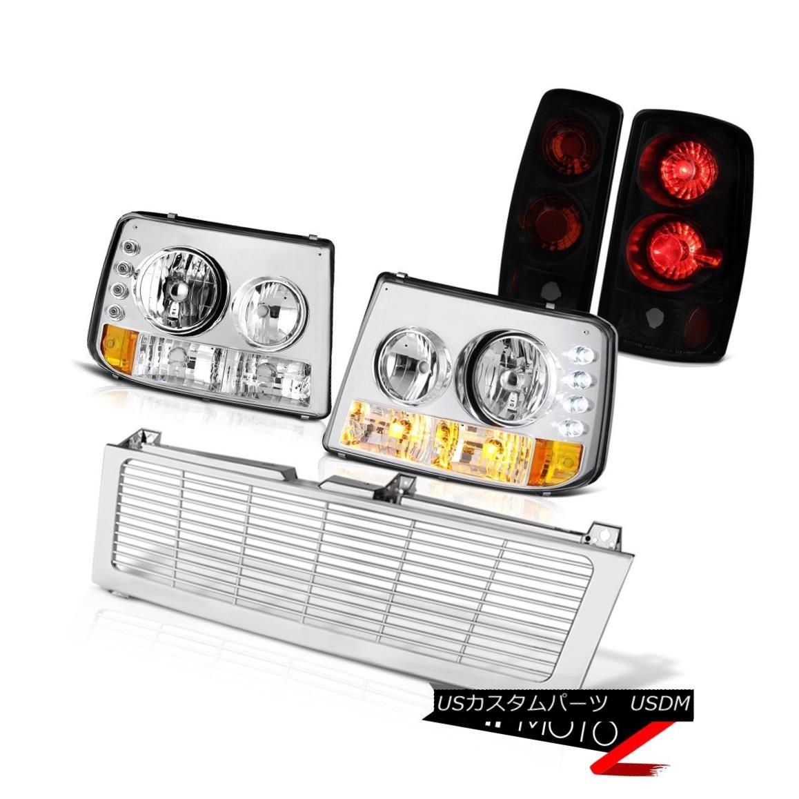 テールライト 00 01 02 03 04 Suburban 2500 Signal Headlamp Brake Tail Light Euro Chrome Grille 00 01 02 03 04郊外2500信号ヘッドランプブレーキテールライトユーロクロームグリル