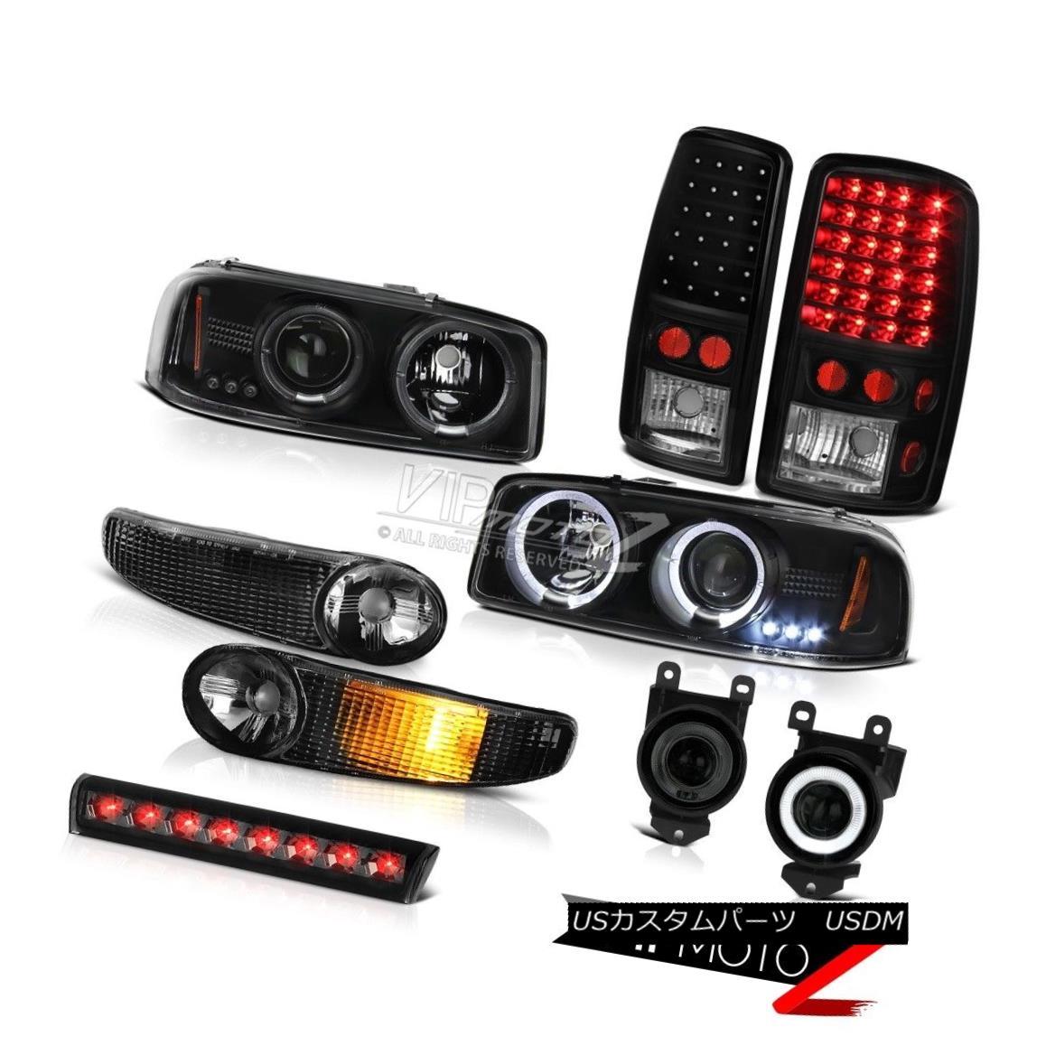 テールライト Black Halo LED Headlight Turn Signal Tail Light Fog Roof Stop 01-06 Yukon Denali ブラックヘイローヘッドライトターンシグナルテールライトフォグルーフストップ01-06ユーコンデナリ