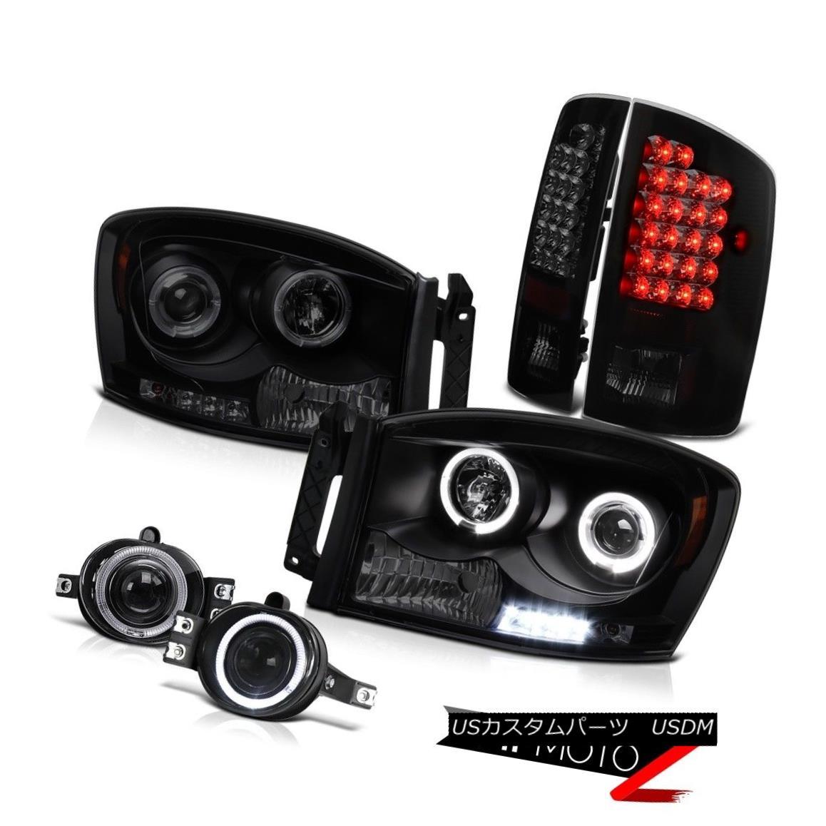 テールライト 2X Halo Projector Headlight Rear Brake Tail Light DRL LED Fog Ram 2500 WS 07 08 2XハロープロジェクターヘッドライトリアブレーキテールライトDRL LEDフォグラン2500 WS 07 08