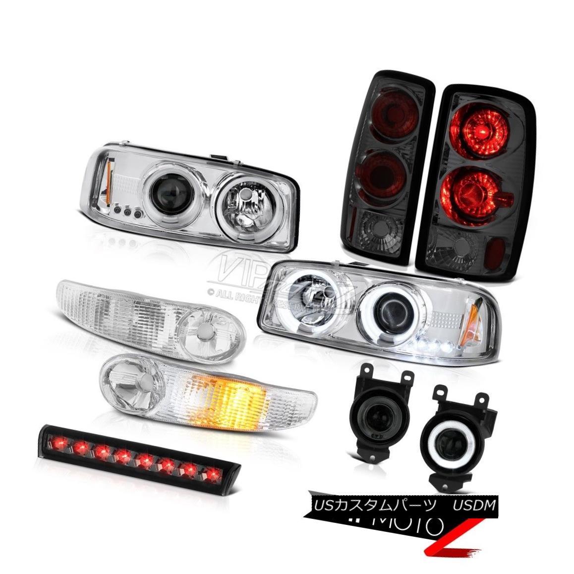 テールライト 01-06 Yukon CCFL Halo HeadLight Bumper Rear lights Driving Foglights Cargo Brake 01-06ユーコンCCFL Haloヘッドライトバンパーリアライトフォグライトカーゴブレーキ