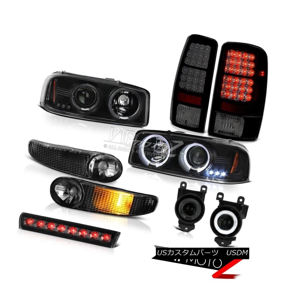 テールライト LED Projector Headlight Bumper Smoke Tail Lamp Fog 3rd Brake 01-06 Yukon XL 6.0L LEDプロジェクターヘッドライトバンパースモークテールランプフォグ3rdブレーキ01-06ユーコンXL 6.0L