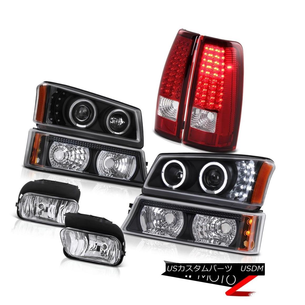 テールライト Silverado 4.3L Halo DRL Projector Headlight Parking Bright LED Tail Lights Fog Silverado 4.3L Halo DRLプロジェクターヘッドライトパーキングブライトLEDテールライトフォグ