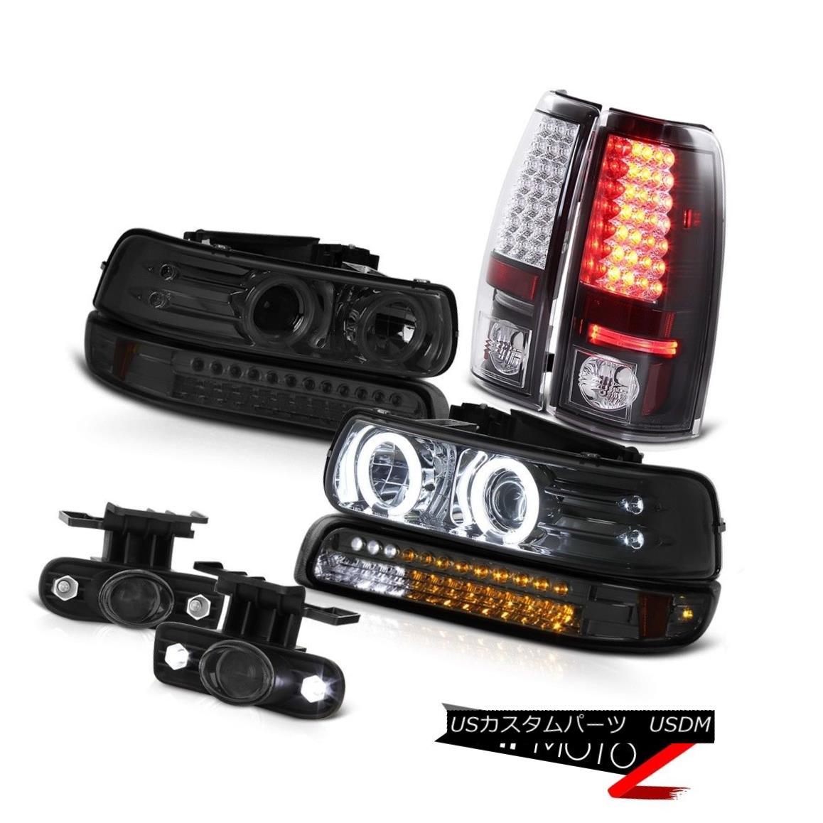 テールライト 99-02 Silverado CCFL Angel Eye Headlight LED Parking Brake Tail Light Foglamps 99-02 Silverado CCFLエンジェルアイヘッドライトLEDパーキングブレーキテールライトフォグランプ
