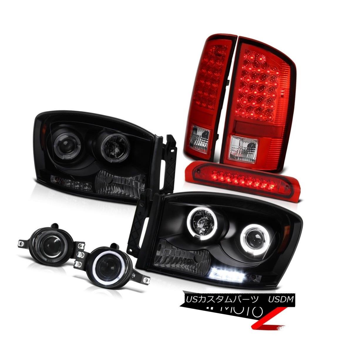 テールライト Smoke Halo LED Headlight Rear Tail Light Projector Fog High Stop Ram SLT 07 08 スモークハローLEDヘッドライトリアテールライトプロジェクターフォグハイストップラムSLT 07 08