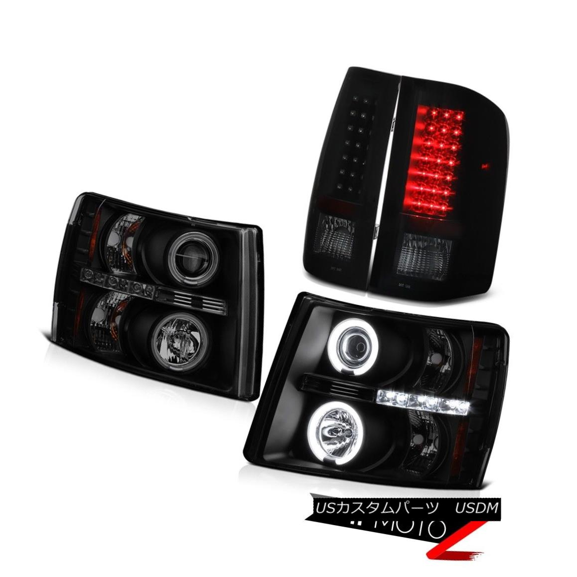 テールライト {Sinister Black} 07-13 Silverado CCFL Projector Headlights+ SMD LED Tail Lights {Sinister Black} 07-13シルバラードCCFLプロジェクターヘッドライト+ SMD LEDテールライト