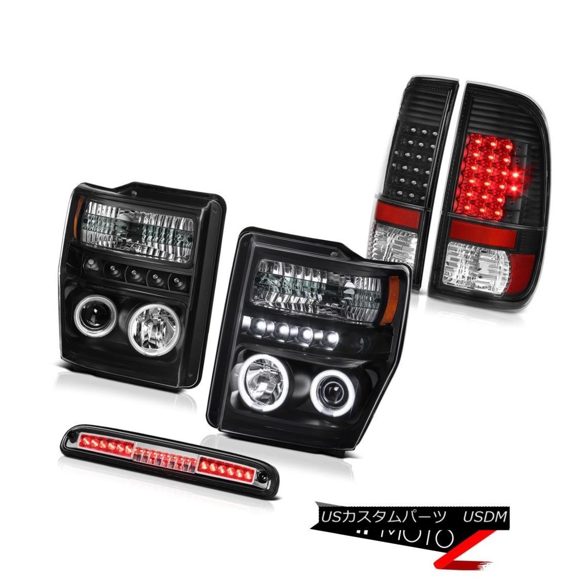 テールライト 08-10 F250 FX4 2X CCFL Projector Headlights LED Bulbs Tail Lights High Stop 3rd 08-10 F250 FX4 2X CCFLプロジェクターヘッドライトLED電球テールライトハイストップ3rd