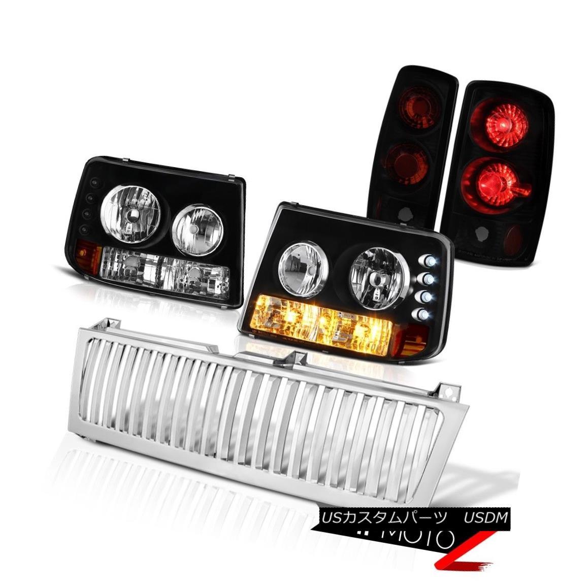 テールライト 2000-2006 Suburban Z71 Black Bumper Headlight Sinister Tail Lights Chrome Grille 2000-2006郊外Z71ブラックバンパーヘッドライトサニスターテールライトクロームグリル